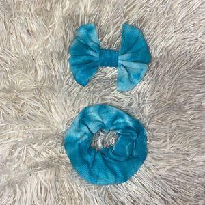 Tye dye bow & scrunchie set